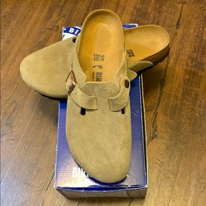 Birkenstock Boston Clog-Taupe